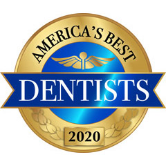 Americas Best Dentists logo 2019 sized at 10