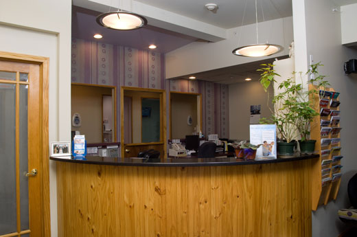 Reception area at Dr. Maron's dental office